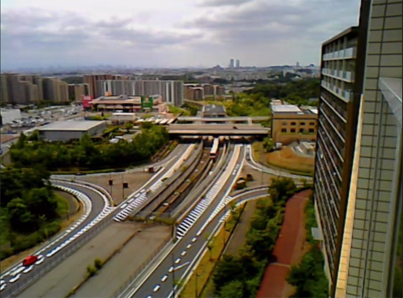 リモートアシストのウェアラブルカメラで遠景の定点観測も可能です。
