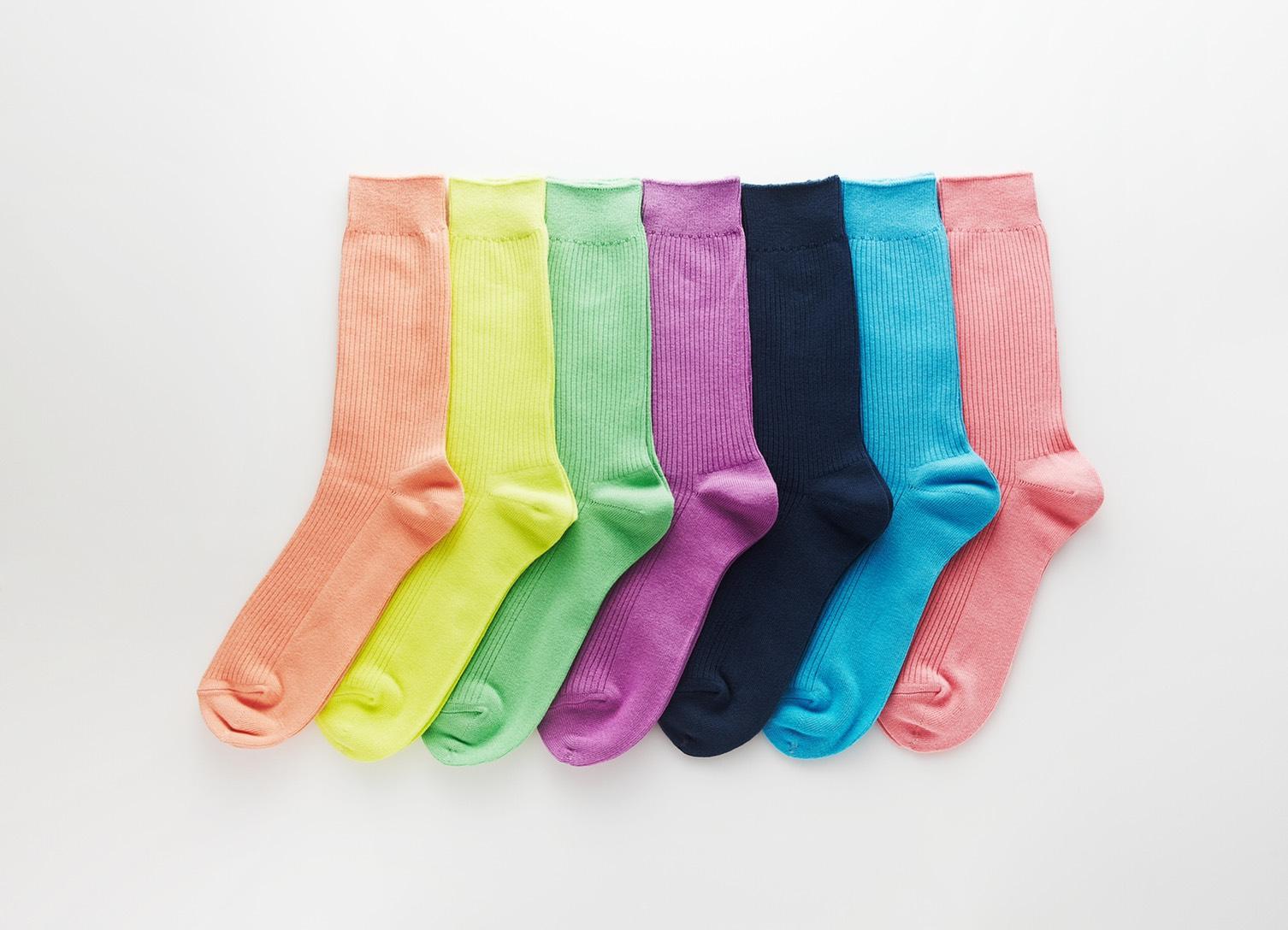 色違いの靴下が混ざってしまった画像